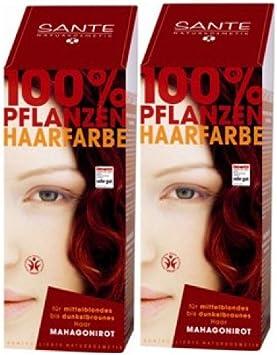 Tinte para el cabello Sante BIO, color caoba, 2 unidades de ...
