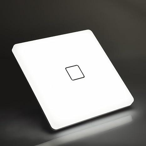 Plafones LED Airand 24W Cuadrado Lámpara de Techo 5000K Blanco Frío 2050LM Billante Eficiente Energía Impermeable