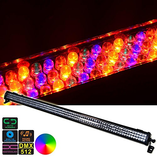 DragonX Mini Horizon Cool White LED Wash Mega Bar/DJ Stage Strip Light Compatible with DMX Controller