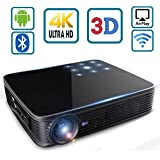 Mini Projectors Portable, SeeYing I8 3500 Lumen 3D Home Theater Video Projector HD 1280x800 LED DLP Max 300 Pico Mini Projector Android System 1080p WiFi Bluetooth Touch/Remote Control