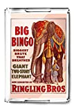 Ringling Bros - Big Bingo Vintage Poster USA c. 1916 (Acrylic Serving Tray)