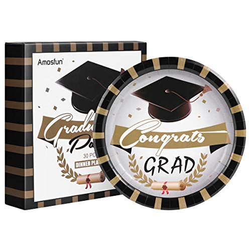 Graduation Dinner Plates 30Pcs Paper Plates for Graduation Party 9