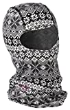 DSG Outerwear Diva-Tech Women's Nordic Print Base Layer Balaclava (White, One Size)