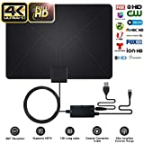 HDTV Antenna, GOSTAR Ultra-Thin HD Digital Indoor TV Antenna 90 Miles Long Range High Definition HDTV Amplifier Signal Booster Support Full HD 1080p 4K Free TV Channels 16.5FT Coax Cable