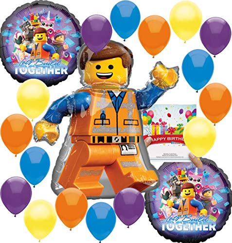 Lego Movie 2 Deluxe Balloon Decoration Bundle for (Any Birthday)]()