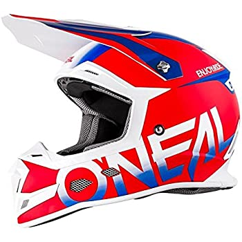 ONeal 5 SRS Mens Off-Road Blocker Helmet (Red/Blue, Large)