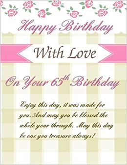 On Your 65th Birthday Greetings Weekly Planner Gifts For Women In All Departments65th Her Al65th Party