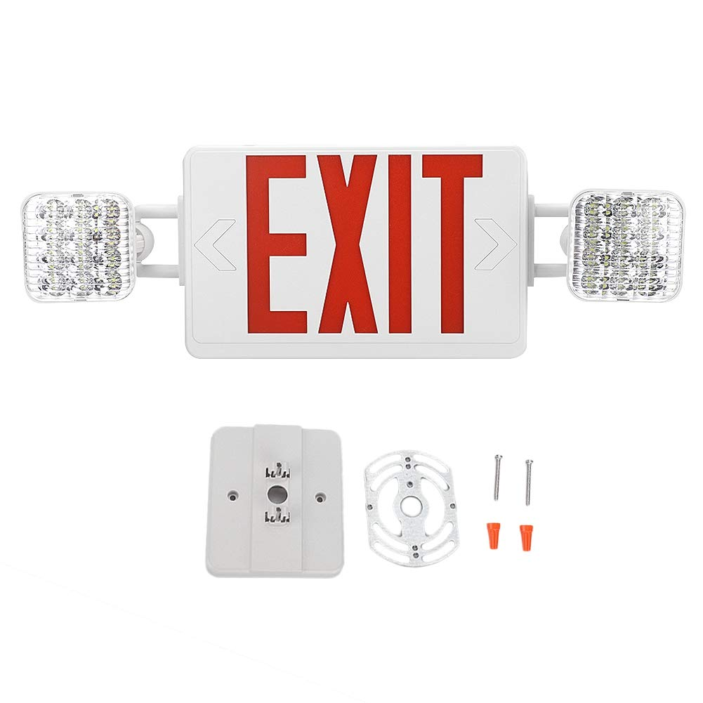Riuty Energy-Saving Emergency Light,LED Emergency Exit Lighting Fixtures Adjustable Light for Home Schools Restaurants