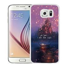 Popular Sale Samsung Galaxy S6,Disney Tangled Castle Lights White Unique Custom Samsung Galaxy S6 Phone Case