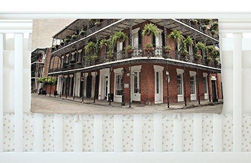 KESS InHouse Sylvia Cook New Orleans Street Corner Green Brown Fleece Baby Blanket 40 x 30 [並行輸入品]   B077ZLH8SD