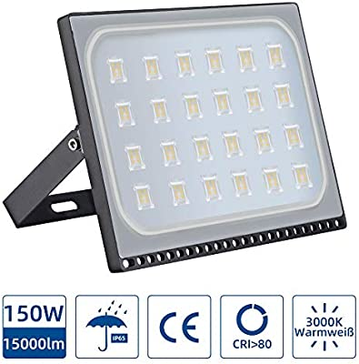 Focos LED Exterior 150W,3000K IP67 mpermeable Proyector Reflector ...