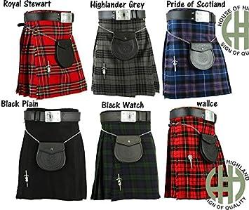 Hombre Escocés Highland (05) piezas Kilt traje por casa de ...