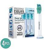 Sonimate Generic Philips Sonicare HX6710 HX6930 HX6530 HX6210 Replacement Heads ProResults (4 Packs) Fits DiamondClean HealthyWhite Easyclean Flexcare Plaque Removal Gum Health