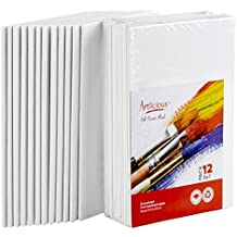"""Artlicious Canvas Panels 12 Pack - 5""""X7"""" Super Value Pack- Artist Canvas Boards for Painting"""