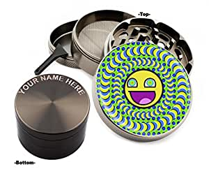 Fun Design Large Size Zinc Grinder With Your Name FREE-Gift Pack # ZG112315-29
