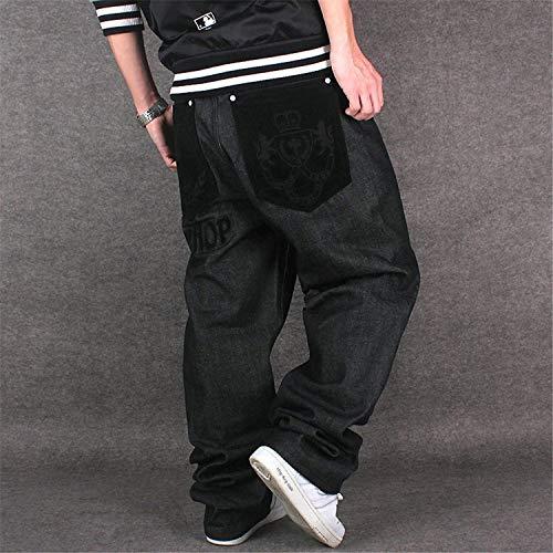 Uomo Vintage Mode Denim Marca Jeans Colour Moda Pantaloni Di Hip Larghi Streetwear Da Hop xHT08xn6w