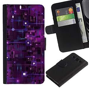 """[Neutron-Star] Modelo colorido cuero de la carpeta del tirón del caso cubierta piel Holster Funda protecció Para Samsung Galaxy S3 III i9300 i747 [Chip Nanotecnología púrpura Espacio de Arte""""]"""