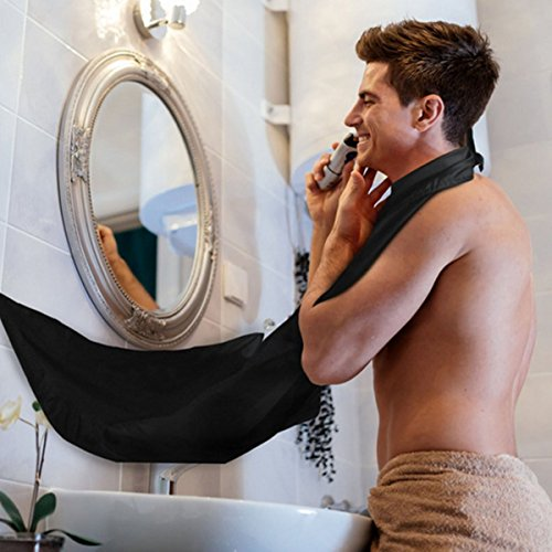 Price comparison product image Beard Catcher Apron Beard Cape for Shaving,Trim Your Beard In Minutes Without The Mess Black