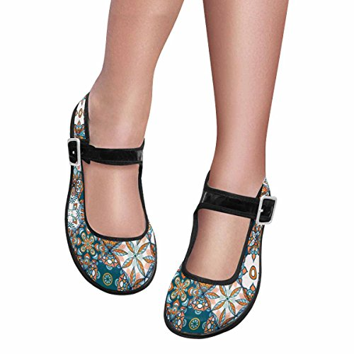 Interestprint Womens Comfort Mary Jane Flats Casual Walking Shoes Multi 14