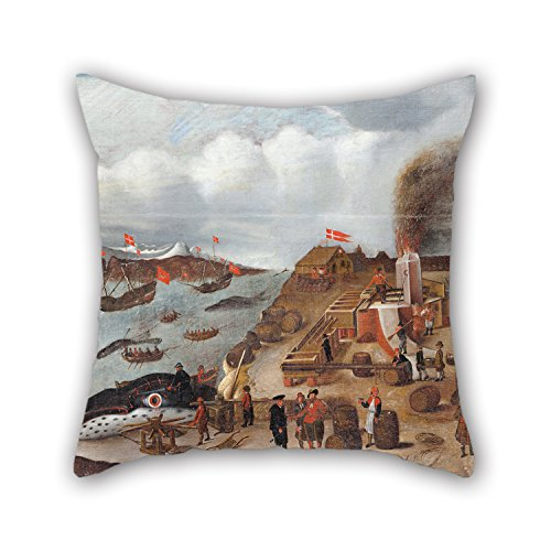 [Pillow Cases 16 X 16 Inch / 40 By 40 Cm(double Sides) Nice Choice For Teens,car,bar,christmas,birthday,drawing Room Oil Painting Abraham Speeck - Danish Whaling] (Magic Mike Baby Costume)