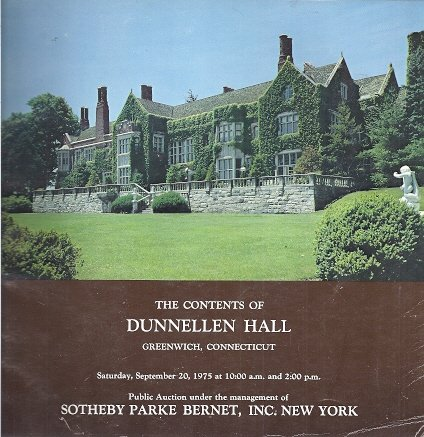 Contents of Dunnellen Hall Greenwich, Connecticut...sept. 20, 1975 Sale #3783