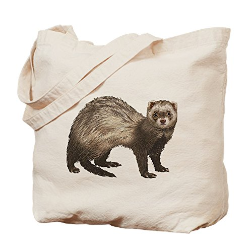CafePress - Ferret - Natural Canvas Tote Bag, Cloth Shopping Bag