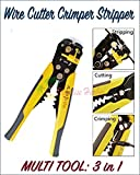 Paradise Harbor Wire Cutter Crimper Cable Strippers Pliers Self Adjusting Hand Terminal Electric