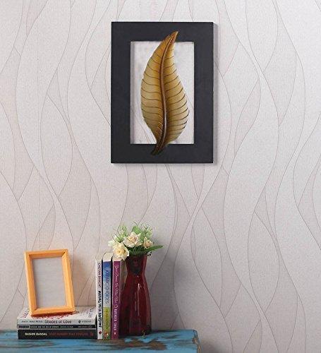 Appeso a parete in legno design foglia doro appeso a parete ...
