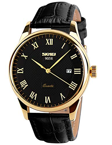 CIVO Mens Watches Luxury Waterproof Date Calendar Wrist Watches Men Leather Stainless Steel Casual Business Dress Watch Fashion Classic Analogue Quartz Watches for Men ()