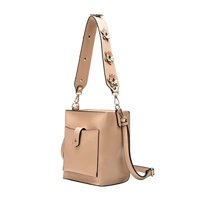 bff99871c12efd Melie Bianco Austen Vegan Leather Shoulder Handbag with Removable Straps:  Handbags: Amazon.com