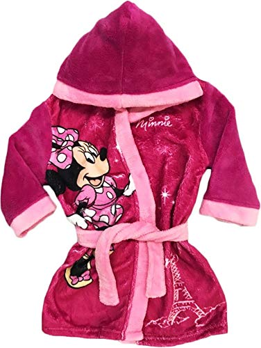 11a3e41961f0e Mgs33 Peignoir Minnie Mouse Rose Fuschia pour Fille Age 3 Ans, Tout Doux,  Superbe Couleur,Disney: Amazon.fr: Vêtements et accessoires