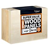 Artlicious 9x12 Super Value Wood Panel Boards for Artist Painting 4 Pack - 1-1/2'' Gallery Profile