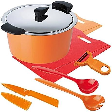 Kuhn Rikon Hotpan 3L Kitchen Starter Set 8 66 Orange Red