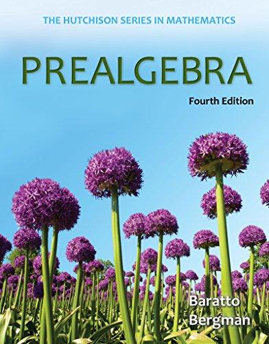 Download Prealgebra (The Hutchison Series in Mathematics) Pdf