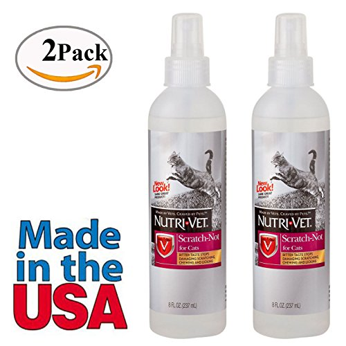 Cat Anti Scratch Furniture Spray Deterrent Bitter Taste for Stop Scratching 2 PACK Total of 16 oz