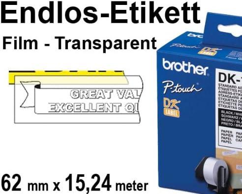 ENDLOS  ETIKETTEN 62mm x 15.24m für BROTHER P-touch QL-570