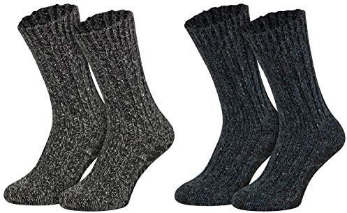 Piarini 2 paar ABS Noorse sokken schapenwolstoppersokken gebreid met antisliphuissokken met noppenwollen sokken voor dames en heren