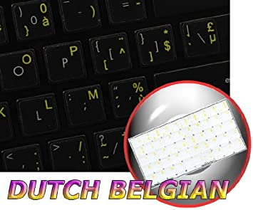 DUTCH BELGIAN TRANSPARENT KEY STICKER YELLOW