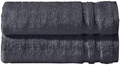 700 g//mq 100/% cotone egiziano filato ad anello 2 teli da bagno grandi morbidi e altamente assorbenti colore: bianco resistente allo sbiadimento