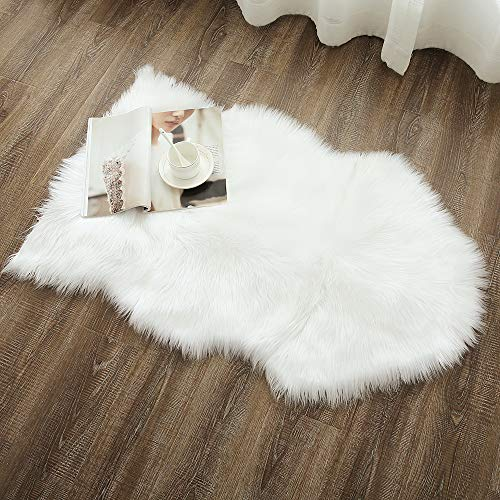 OJIA Deluxe Soft Faux Sheepskin Chair Cover Seat Pad Plain S