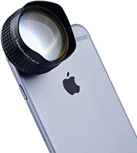 Apexel 7x Telephoto Telescope Camera Phone Lens with Mounting Plate for iPhone 5/5S 6 6 Plus Samsung Galaxy S4 S5 Note 3 Note 4 Black