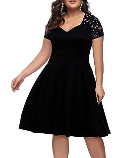 a9164c756466 ORICSSON Women s Plus Size Retro Floral Lace Halter Ruched Off- Shoulder  Wedding Hi-Low