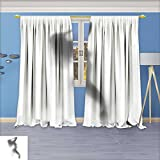 SeptSonne Linen Blend Curtains - Mysterious woman dances behind the curtain Pattern Print Curtain Window Curtain Panel, 96W x 84L Inch