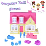 PSFS Princess Doll House Toy |Adorable Pretend Play Doll House|for Kids for Surprise Dolls (Hot Pink)
