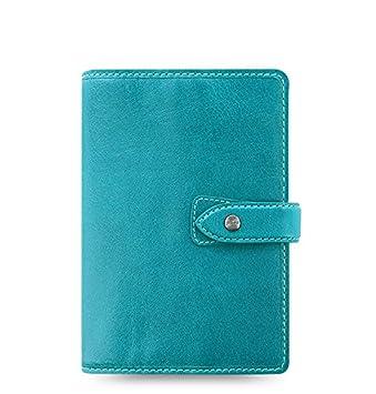 Filofax Malden Kingfisher Personal Leather Organizer Agenda 2019 & 2020 Calendar Diary with DiLoro Jot Pad Refills 026026