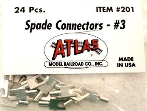 Atlas 201 Spade Connectors #3 package of 24 by - Connector Atlas