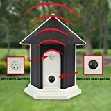 MATOP Outdoor Ultrasonic Dog Anti-Bark Control Training Birdhouse Box Bark Controller Device Sonic Bark Deterrents, Battery Operated (Black)