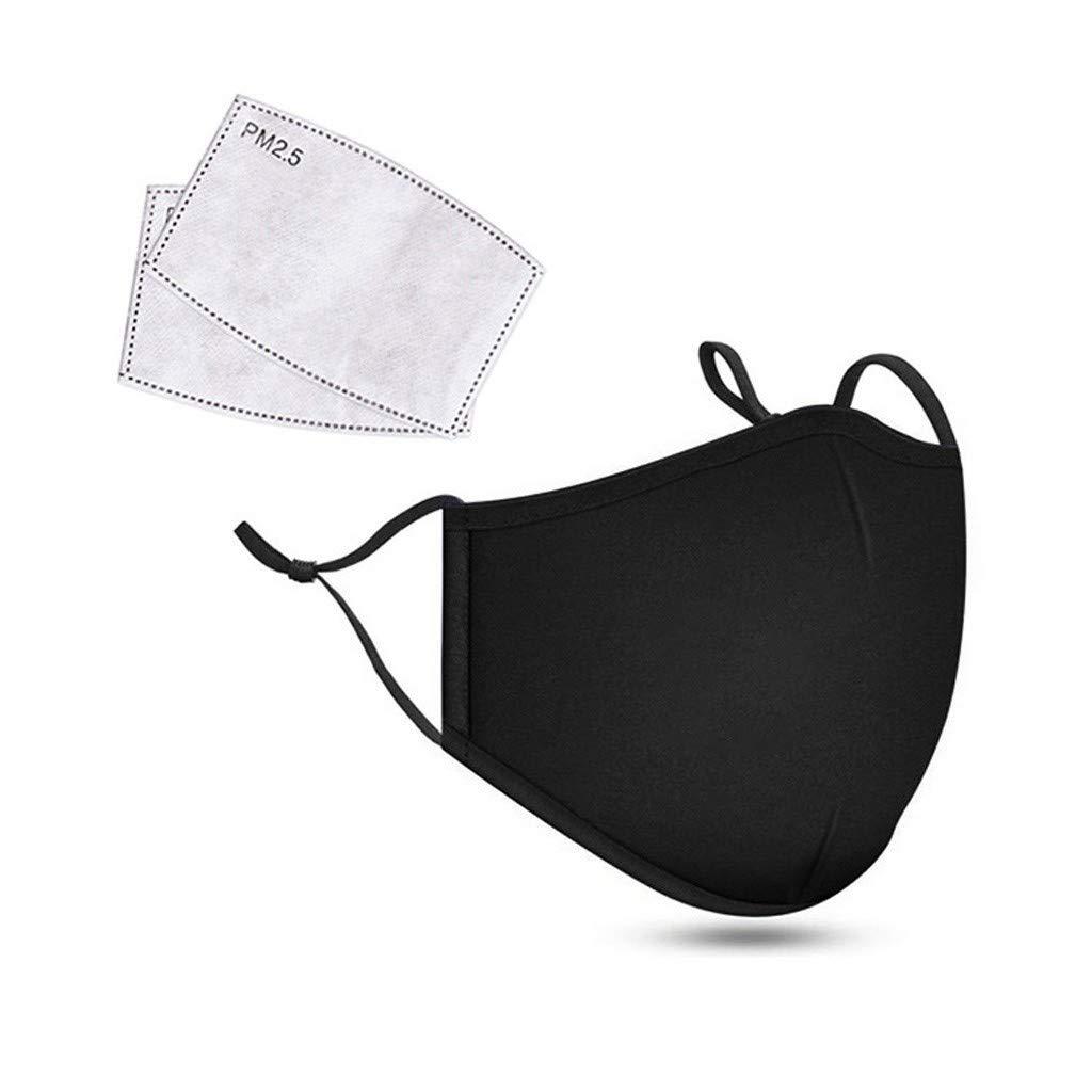 Proteccion para Cubreboca de Ciclismo con 2 Filtros de Carbón Activado Antipolvo, Proteccion Faciales Lavables para Boca para Deportes al Aire Libre