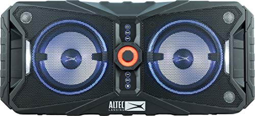 Altec Lansing ALP-XP850 Expedition Xpedition 8 Portable Waterproof Wireless Bluetooth Indoor or Outdoor Speaker with Multi-Colored LED Light Show, Stereo Pairing, Everything Proof