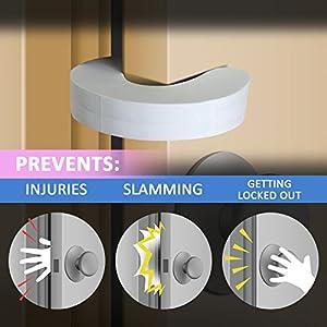 Door Pinch Guards (6 Pack) Baby Proof Doors Extra Soft Foam,...